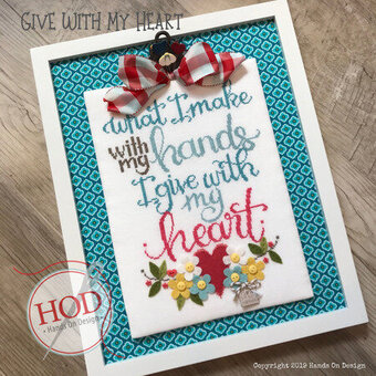 Give With My Heart - Cross Stitch Pattern
