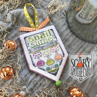 Snail Slime - Scary Apothecary - Cross Stitch Pattern
