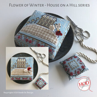Flower of Winter - House on a Hill - Cross Stitch Pattern