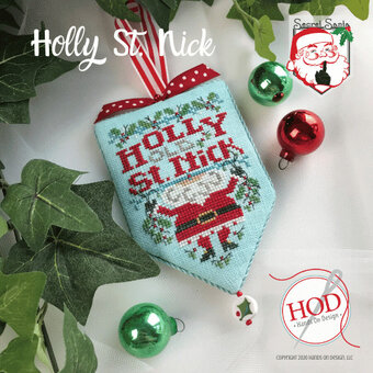 Holly St Nick - Secret Santa - Cross Stitch Pattern