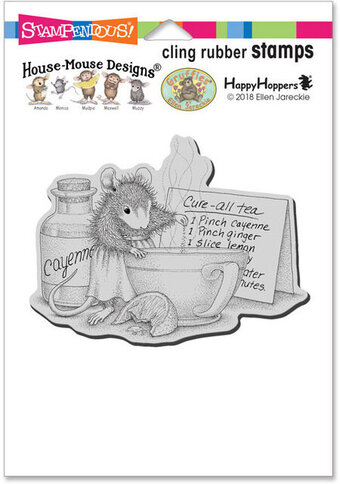 Cure All Tea - House Mouse Cling Rubber Stamp