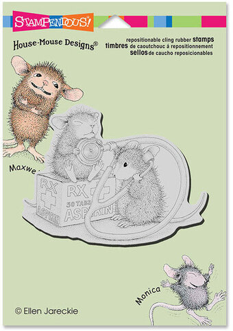 Nurse Mouse - House Mouse Cling Rubber Stamp
