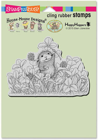 Lucky Clover - House Mouse Cling Rubber Stamp