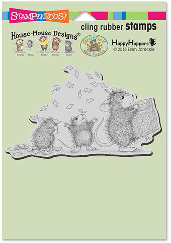 Tossing Confetti - House Mouse Cling Rubber Stamp