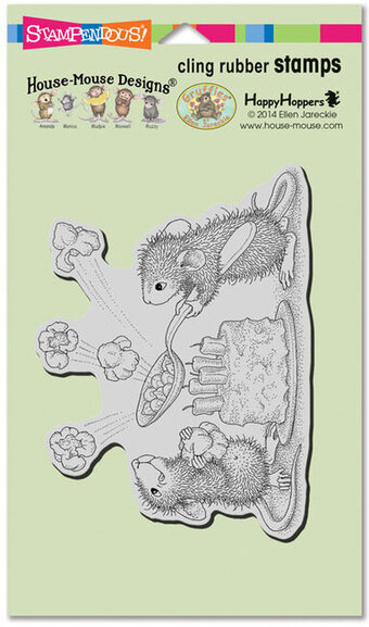Popcorn Birthday - House Mouse Cling Rubber Stamp