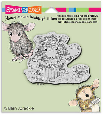 Gifts To Tie - House-Mouse Cling Rubber Stamp