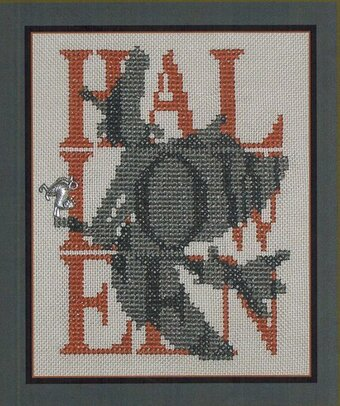 Halloween Witch (Shadow Words) - Cross Stitch Pattern