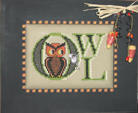 Vintage Halloween Owl - Cross Stitch Pattern