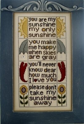U R My Sunshine - Cross Stitch Pattern