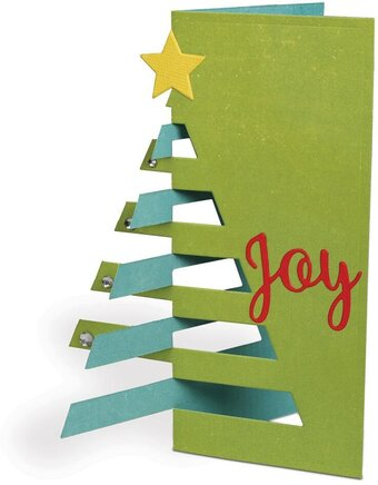 Holiday Dovetail Christmas Tree Card - Craft Die