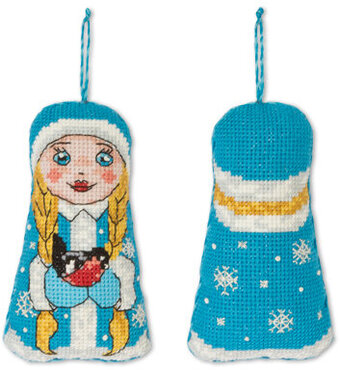 The Snow Maiden Christmas Ornament - Cross Stitch Kit