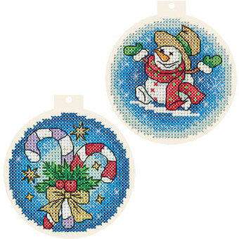 Christmas Tree Baubles - Cross Stitch Kit