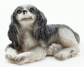 Miniature Sweet Cocker Spaniel Puppy Sitting DOLLHOUSE Miniatures 1:12 Scale