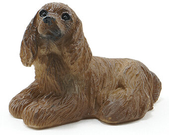 American Cocker Spaniel - Dollhouse Miniature