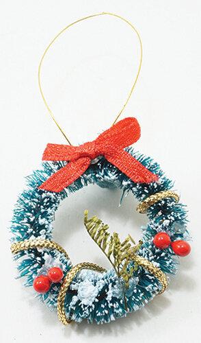 Christmas Dollhouse Miniatures.Christmas Wreath Dollhouse Miniature