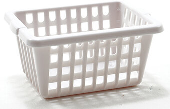 Square Laundry Basket - Dollhouse Miniature