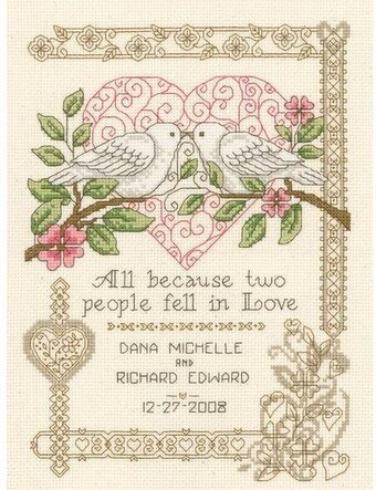 All Because Wedding Record - Cross Stitch Kit