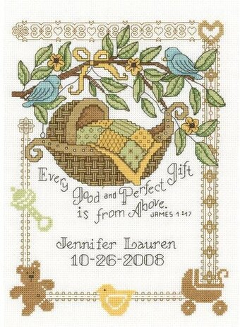 Perfect Gift Birth Record - Cross Stitch Kit