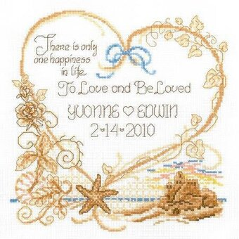 Seaside Wedding Record - Cross Stitch Kit