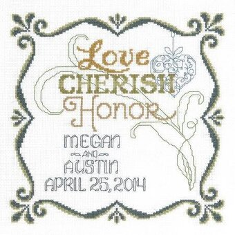 Honoring Marriage Wedding Record - Cross Stitch Kit