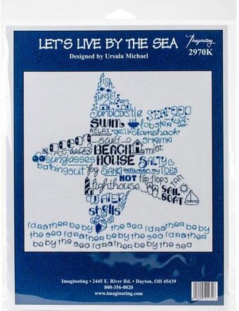 Let's Live By The Sea - Cross Stitch Kit