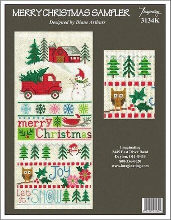 Merry Christmas Sampler - Cross Stitch Kit