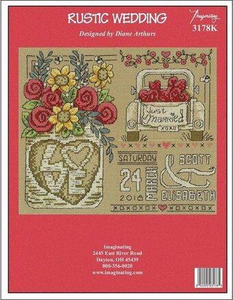 Rustic Wedding - Cross Stitch Kit