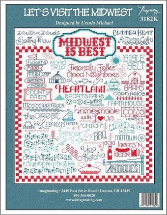 Let's Visit The Midwest - Cross Stitch Kit