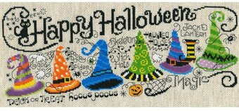 Halloween Hocus Pocus - Counted Cross Stitch Kit