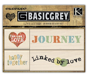 Love Letters (Set of 4) - Rubber Stamp