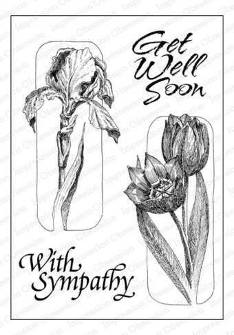 Iris and Tulip - Cling Rubber Stamp