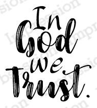 In God We Trust - Cling Rubber Stamp