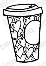 Coffee Love - Cling Rubber Stamp