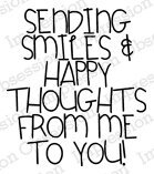 Sending Smiles - Cling Rubber Stamp