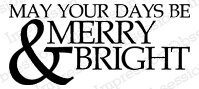 Merry and Bright - Cling Rubber Stamp