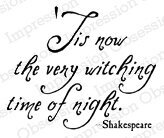Witching Time - Cling Rubber Stamp