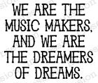 Music Makers - Cling Rubber Stamp