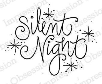 Silent Night - Christmas Cling Stamp