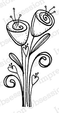 Rosebuds - Cling Rubber Stamp