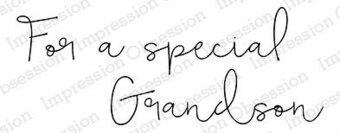 Special Grandson - Cling Rubber Stamp