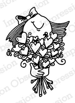 Bouquet of Hearts - Cling Rubber Stamp