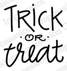 Trick or Treat - Halloween Cling Rubber Stamp