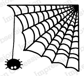 Itsy Bitsy Spider - Halloween Cling Rubber Stamp