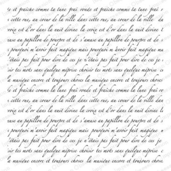 French Text - Cling Rubber Stamp