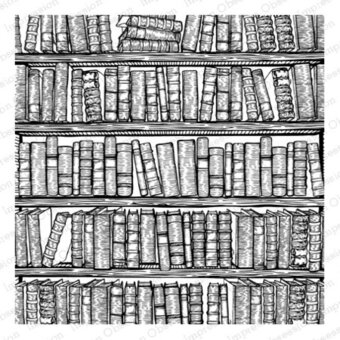 Bookshelves - Cling Rubber Stamp