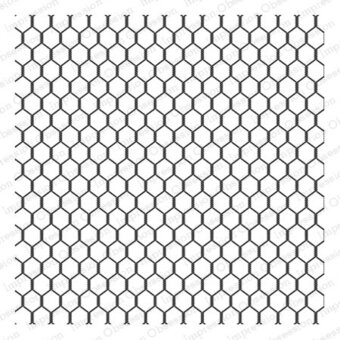 Impression Obsession Chicken Wire - Cling Rubber Stamp CC155-CLG ...
