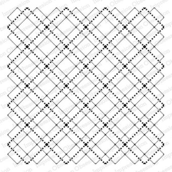 Dotted Argyle - Cling Rubber Stamp