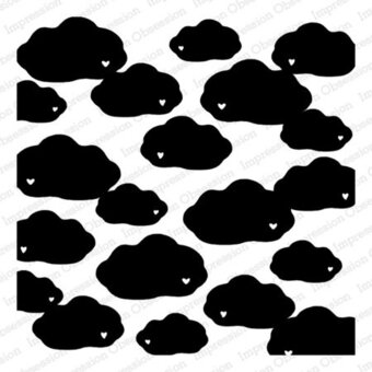 Lovely Cloud - Background Cling Rubber Stamp