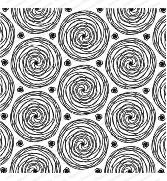 Spirals - Background Cling Rubber Stamp