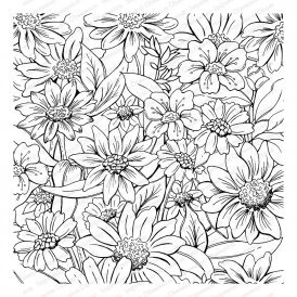 Impression Obsession Flower Garden Background Cling Rubber Stamp Cc350 Clg 123stitch